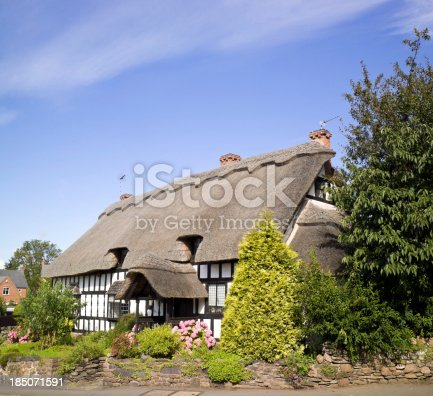 istock Thatched Cottage 185071591