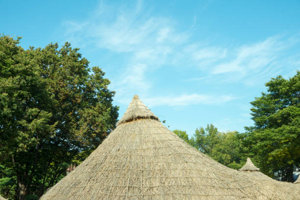 A thatched cottage A thatched cottage portal dolmen stock pictures, royalty-free photos & images
