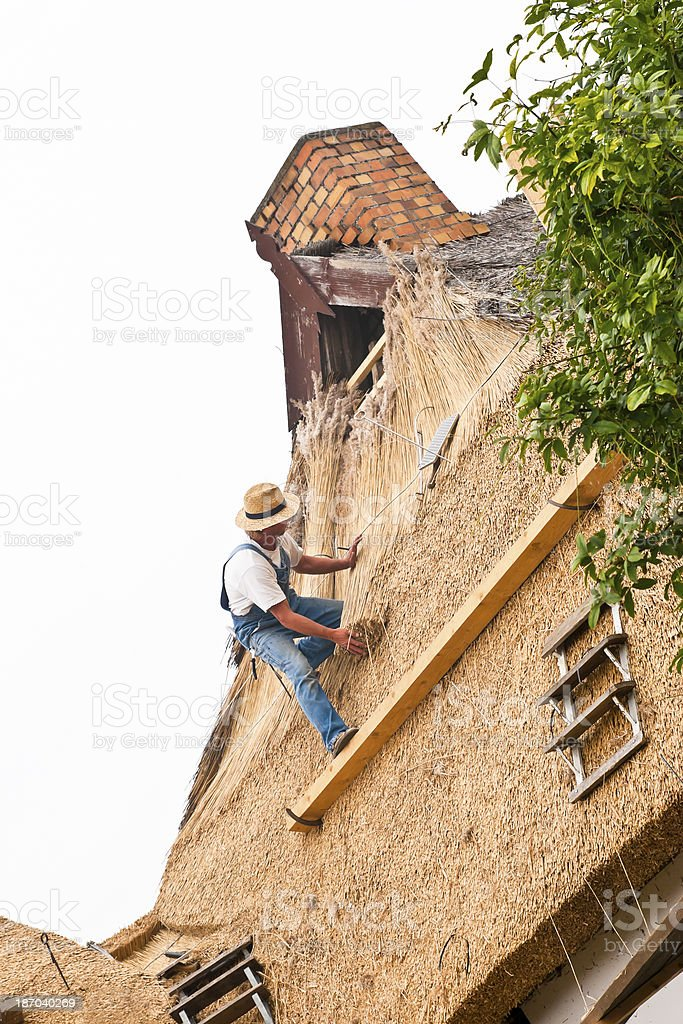 Thatched Remodeling royalty-free stock photo