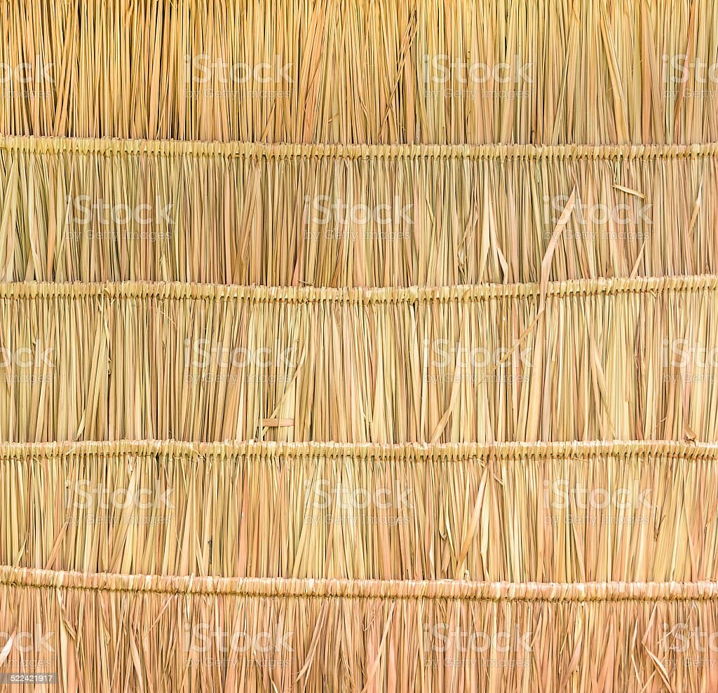 Thatched roof background stock photo