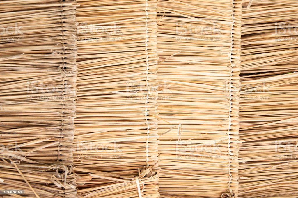 Thatched roof background. stock photo