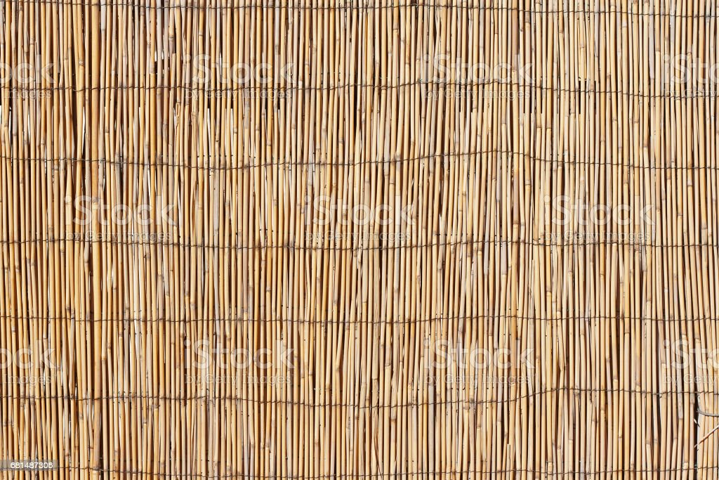 Thatched wooden surface texture stock photo