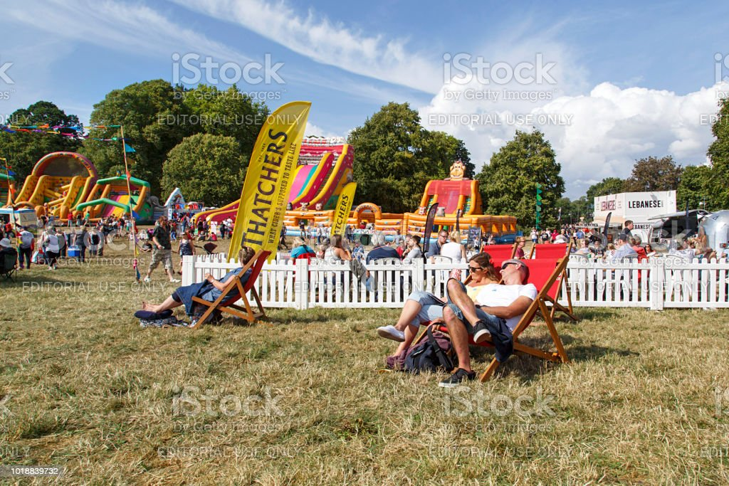 Thatchers Gold Cider - Summer Carnival stock photo