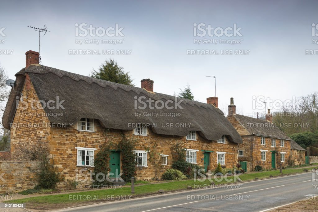 Thatches And Slates stock photo