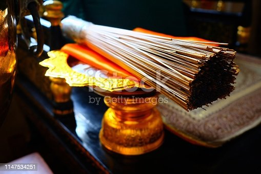 Thatches for Sprinkling the Holy Water in Buddhist Religious Ceremony.