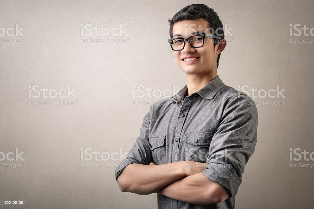 That's confidence! stock photo