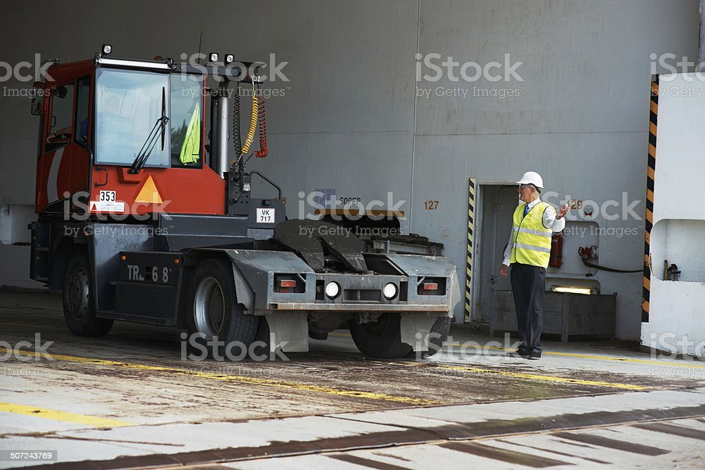 That's the last load before departure... stock photo