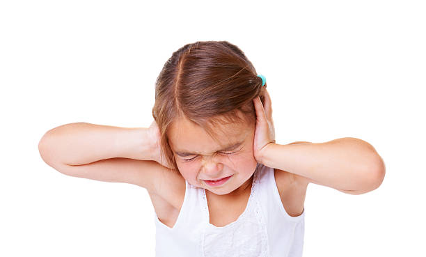 that's too loud! - covering ears stock photos and pictures