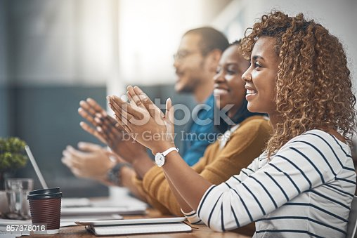 istock That's what you call a good meeting! 857378016