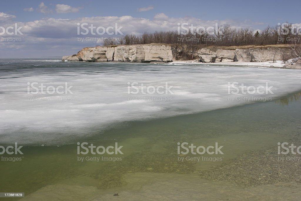 Thawing Lake stock photo