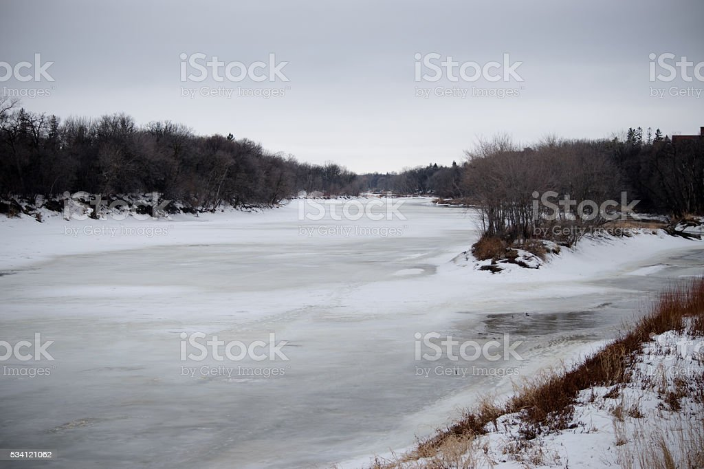 Thawing river stock photo