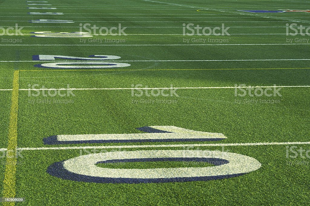 The 10 20 30 Yard Lines on a Football Field stock photo