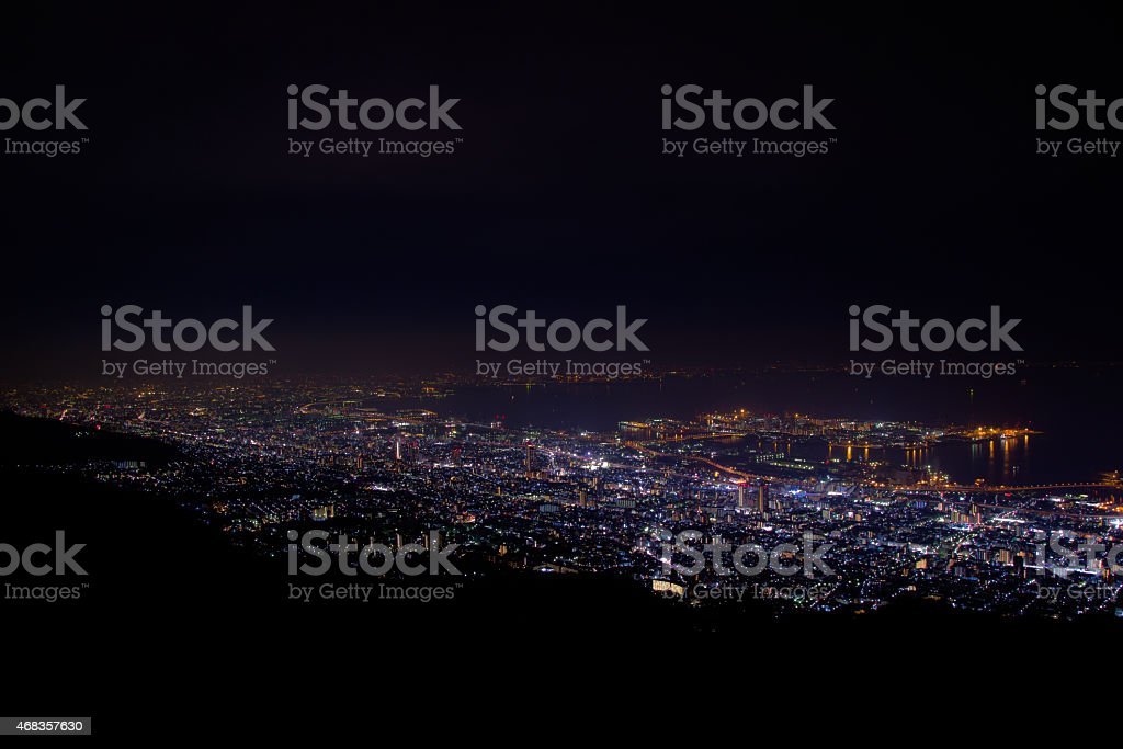 The 10 million dollar night view, Kobe, Japan royalty-free stock photo