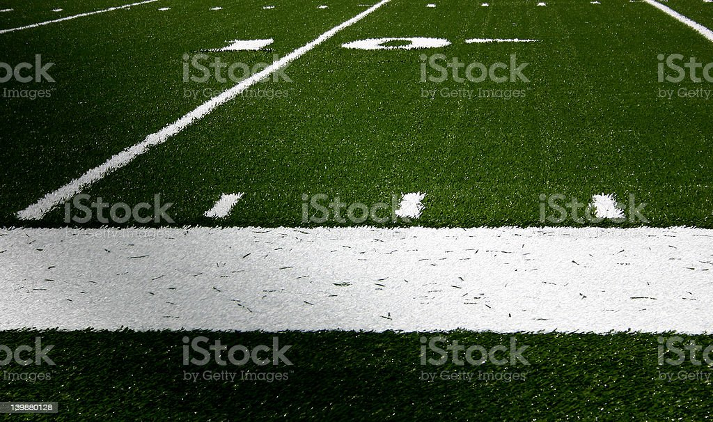 The 10 Yard Line royalty-free stock photo