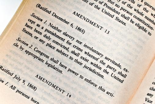 istock The 13th Amendment - Constitution Series 172641463