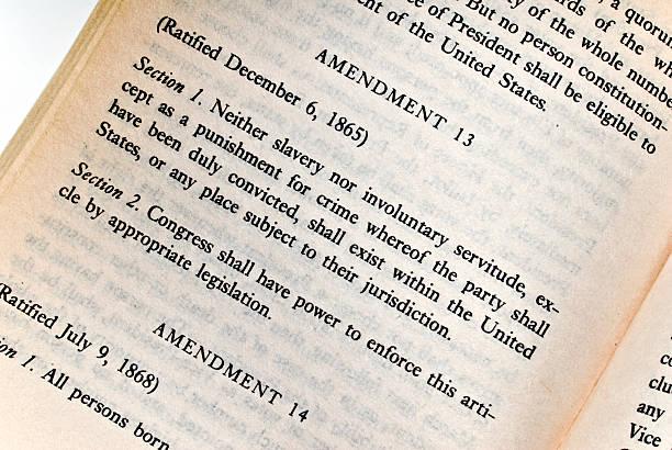 The 13th Amendment - Constitution Series stock photo