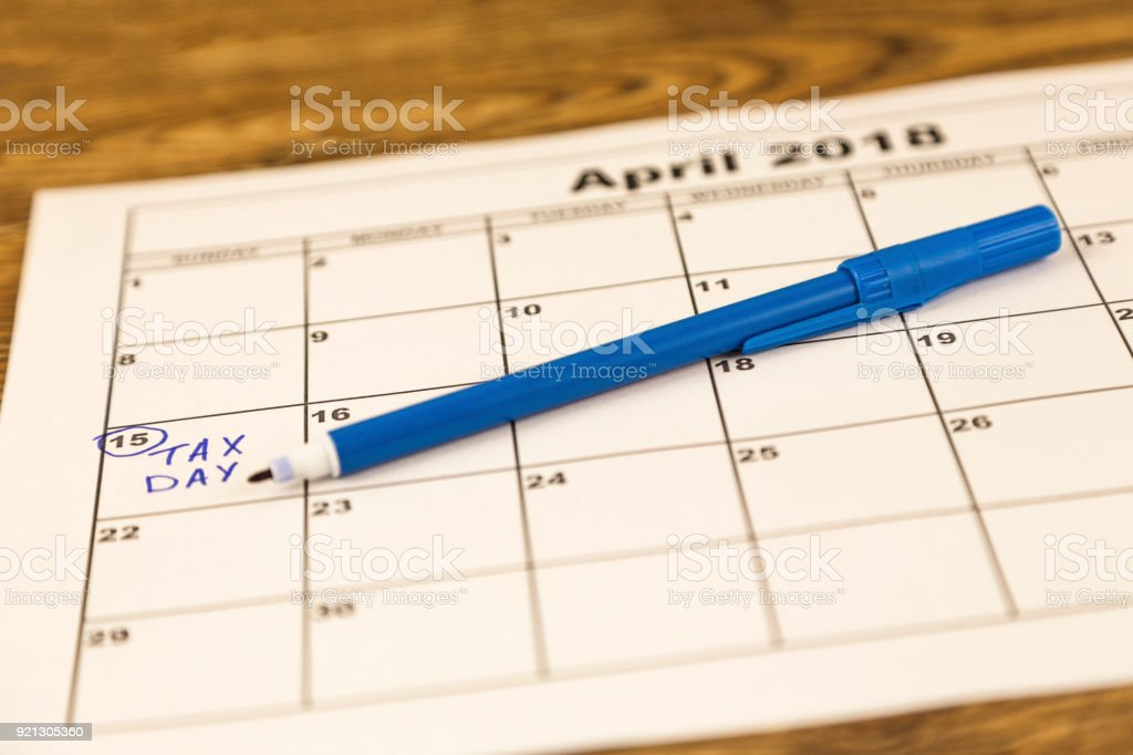 The 15th, tax day, payday or just middle of the month very shallow DOF stock photo