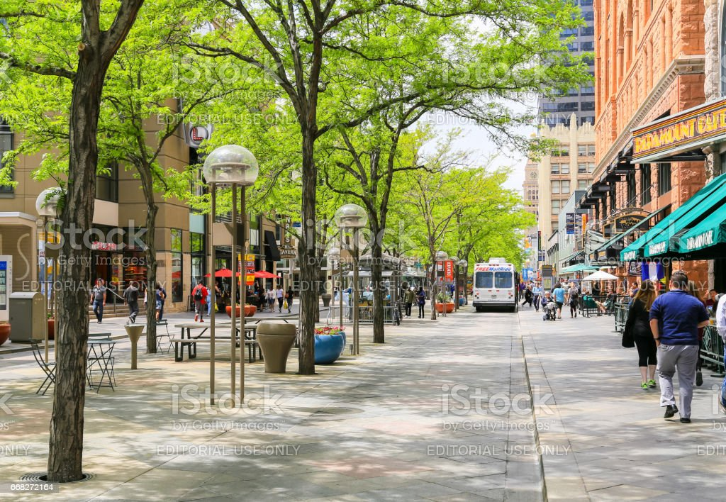 The 16th Street Mall stock photo