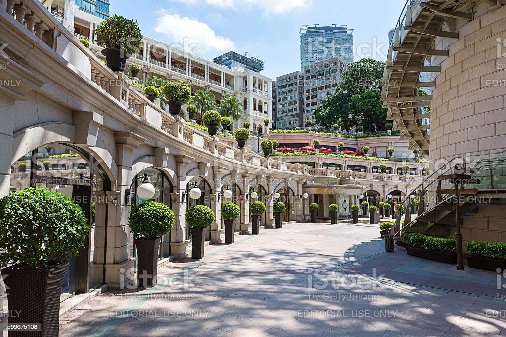 The 1881 Heritage Tsim Sha Tsui, Hong Kong, China - July 25, 2016: View of 1881 Heritage or former Marine Police Headquarters on July 25, 2016: in Hong Kong. It is a landmark colonial architecture built during British rule in Hong Kong. 1881 Stock Photo