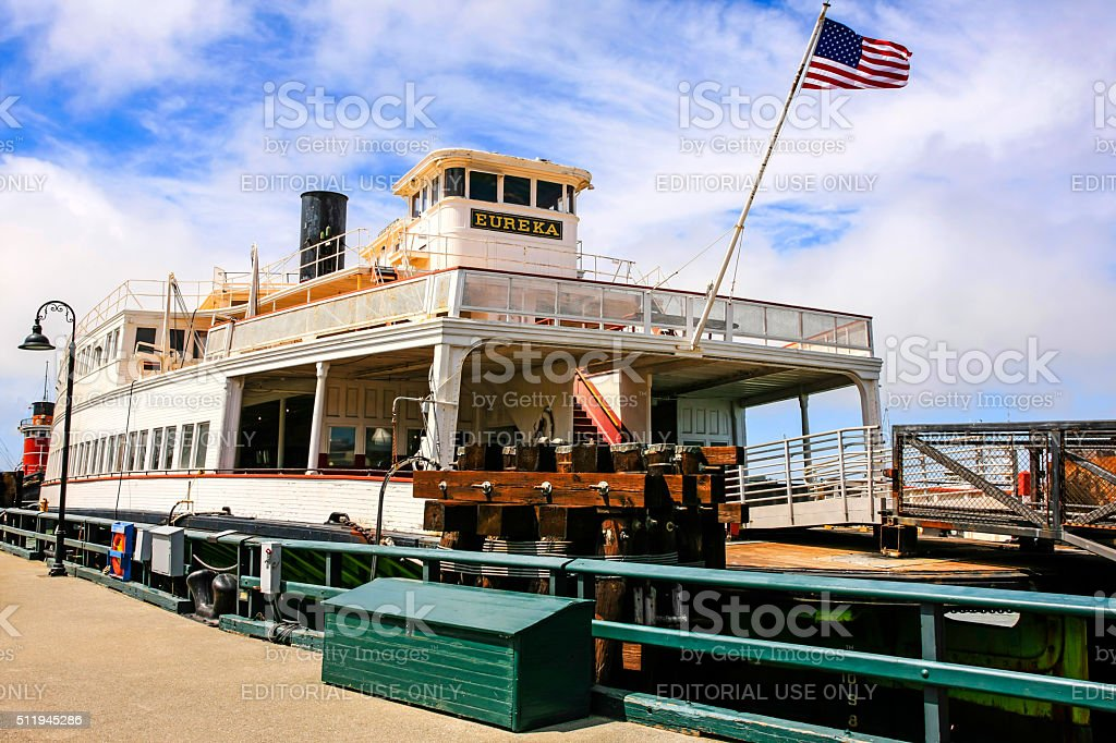 The 1890 Eureka Ferry boat in San Francisco CA stock photo