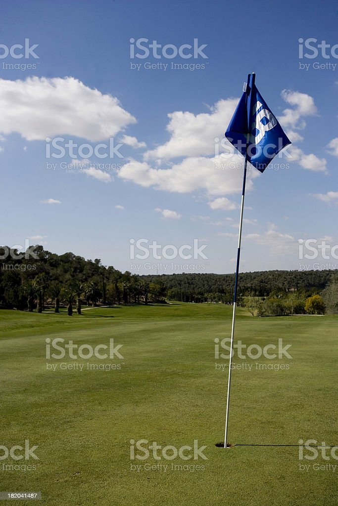 The 18th Green Flag stock photo