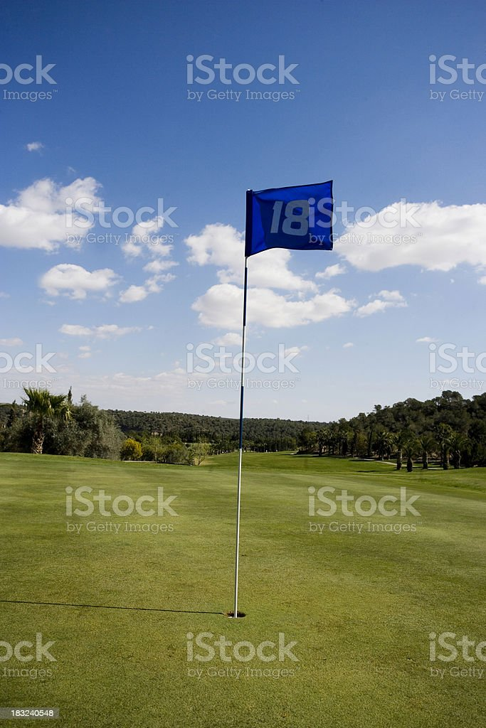 The 18th Green stock photo