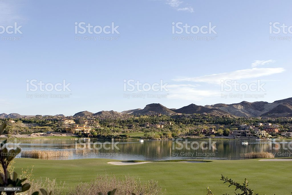 The 18th Green royalty-free stock photo