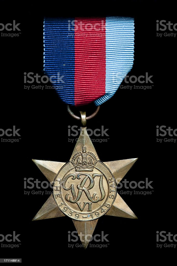 The 1939 - 1945 Star stock photo
