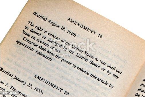 istock The 19th Amendment - Constitution Series 172640647