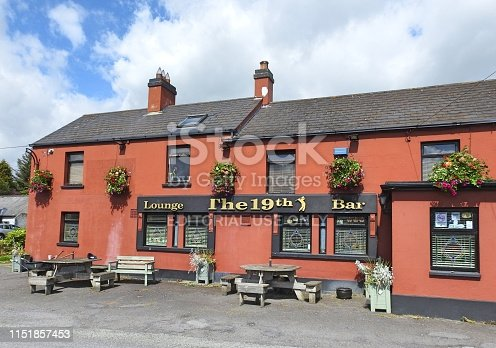 21st May 2019, Baltray, Drogheda, County Louth, Ireland. The 19th Lounge and Bar in Baltry, near the County Louth Golf Club.