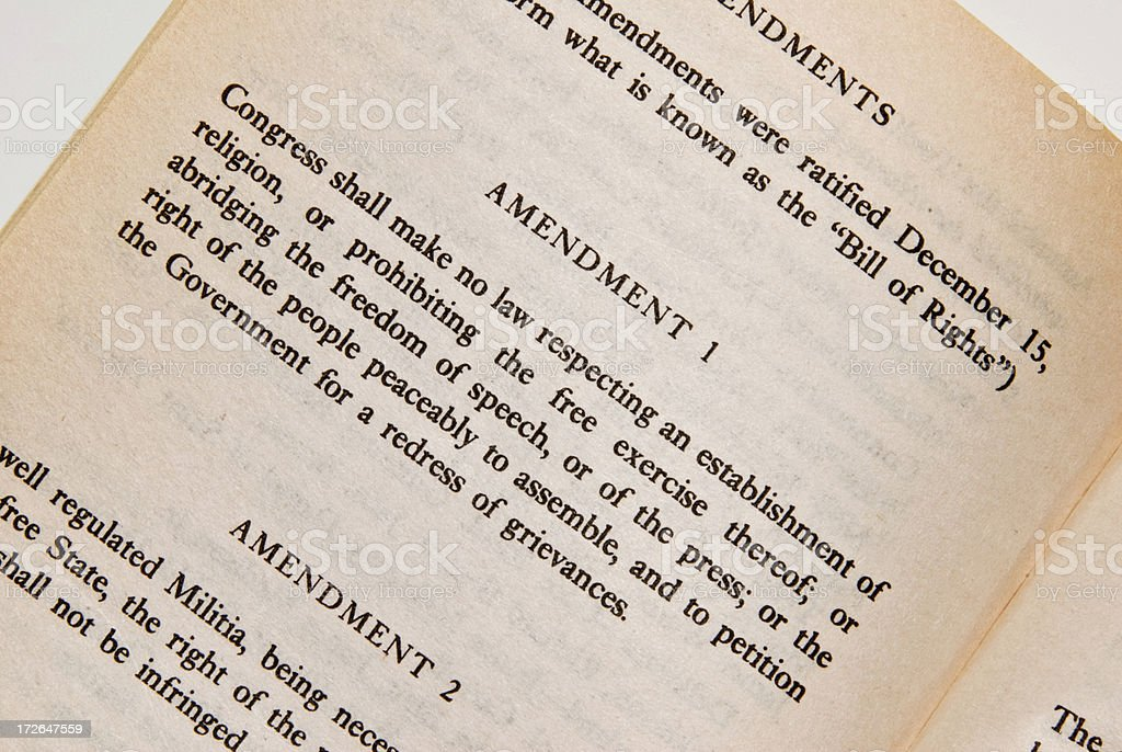 The 1st Amendment - Constitution Series stock photo