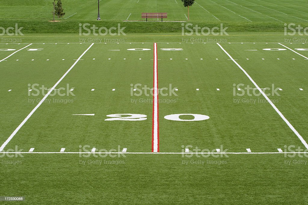 The 20 Yard Line royalty-free stock photo