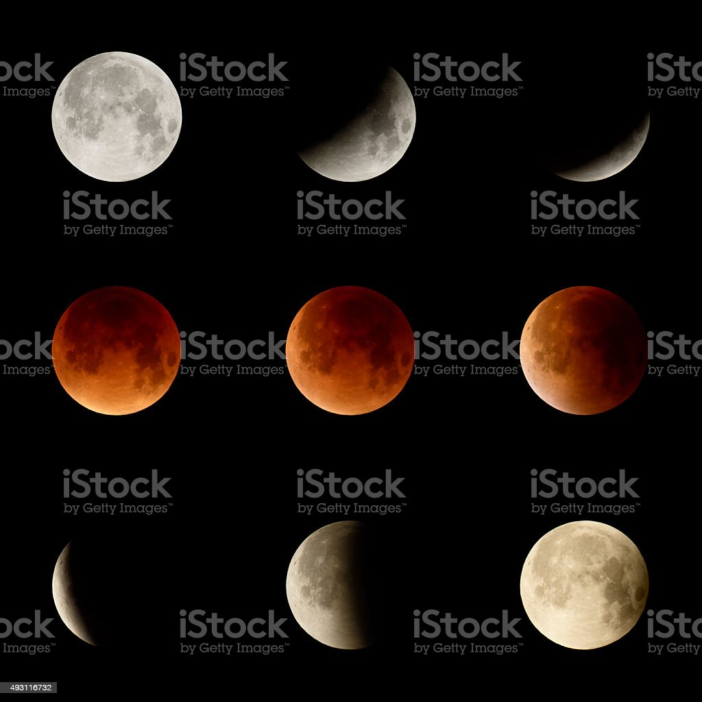 The 2015 Lunar Eclipse stock photo