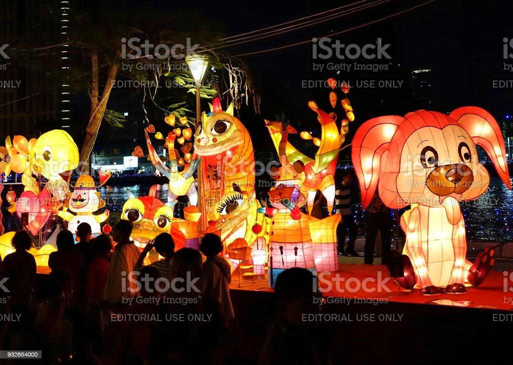 The 2018 Lantern Festival in Taiwan stock photo