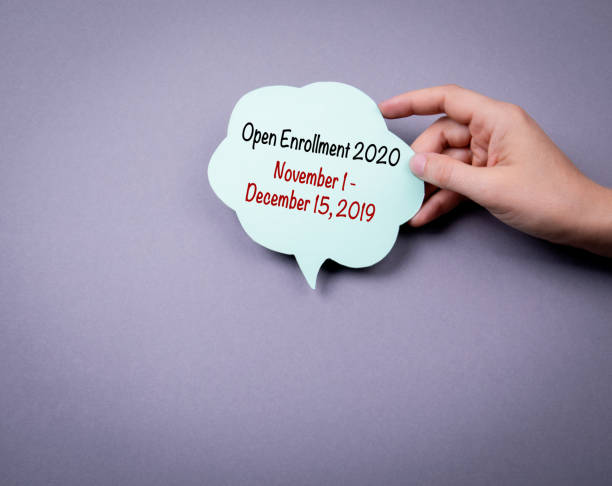 the 2020 open enrollment period from november 1 to, december 15, 2019 - open enrollment stock photos and pictures