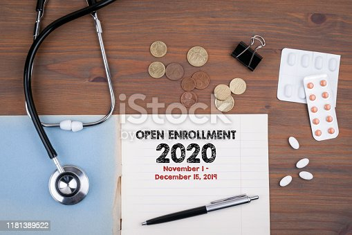 istock The 2020 Open Enrollment Period from November 1 to, December 15, 2019 1181389522