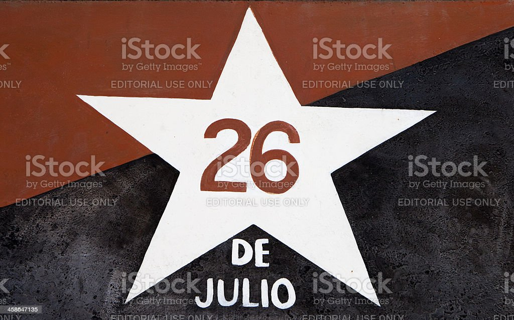 The 26th July Movement, Cuba. stock photo