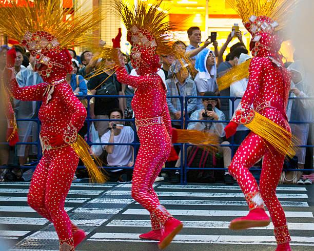 the 35th asakusa samba carnival (2016) - zentai - morphsuit stock-fotos und bilder