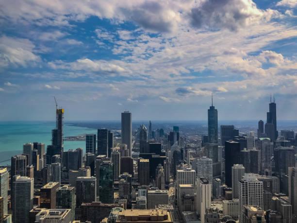 die 360 chicago aussichtsplattform ansicht - hohe warte stock-fotos und bilder