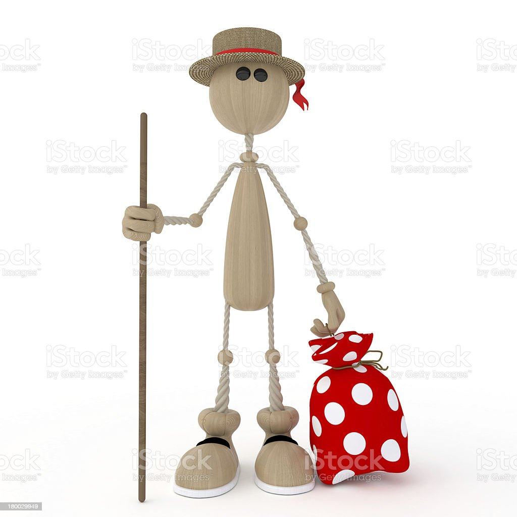 The 3D person prepares for a campaign. royalty-free stock photo