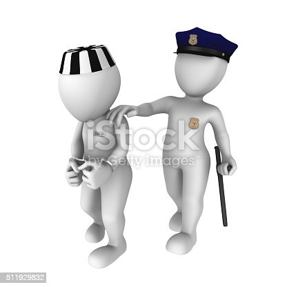 istock The 3d policeman escorts the prisoner to jail 511929832