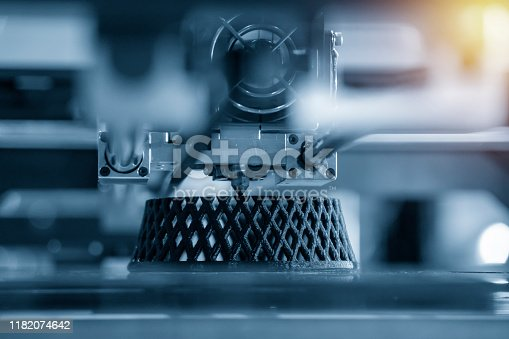 The 3D printing machine make the 3D prototype model by resin material. The hi-technology for rapid prototype method by 3d printing machine.