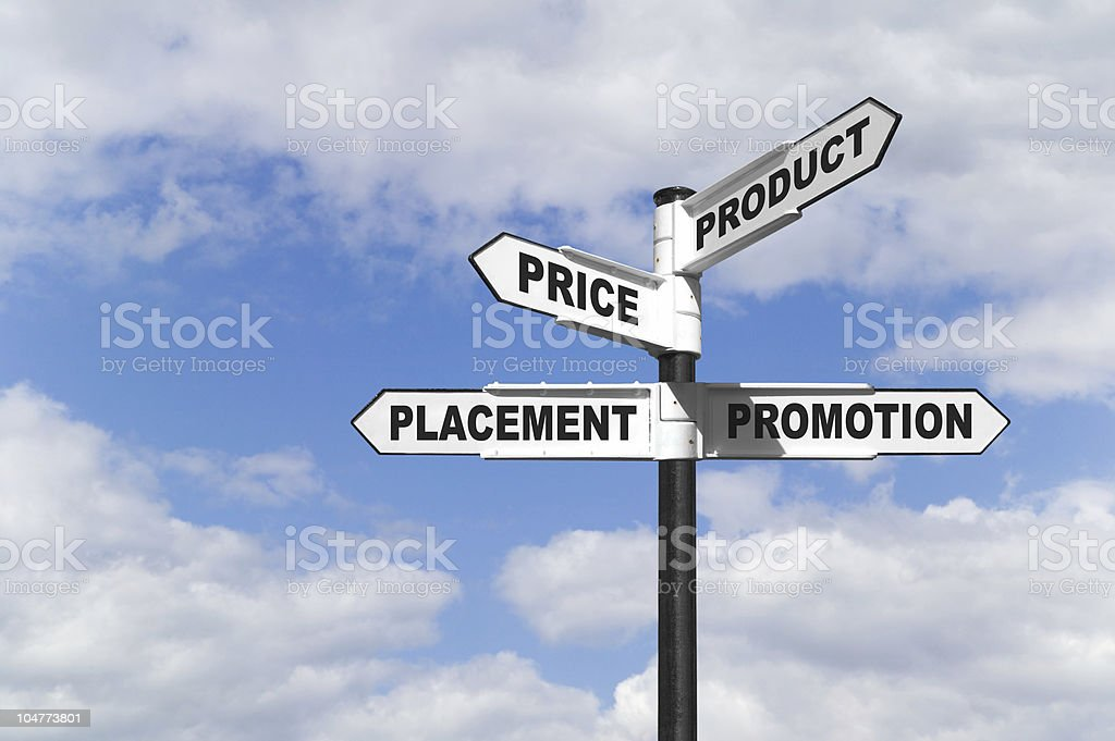 The 4 P's signpost royalty-free stock photo