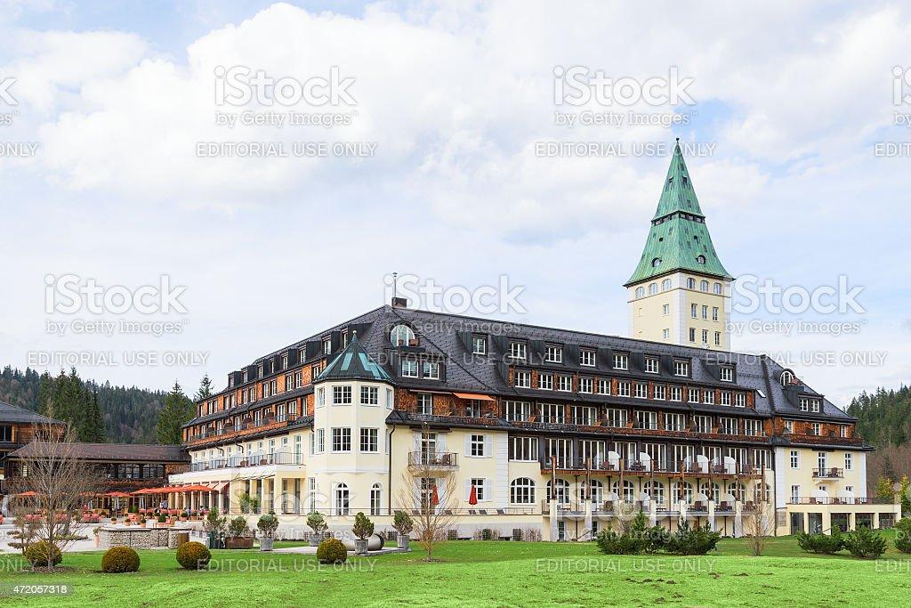 The 41st forum Summit G7 in prestigious hotel Schloss Elmau stock photo
