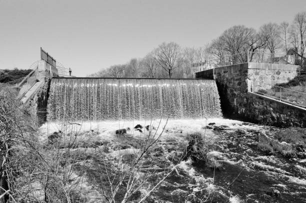 The 4th Privilege Dam at Stone Mill, Dedham MA. #1 stock photo