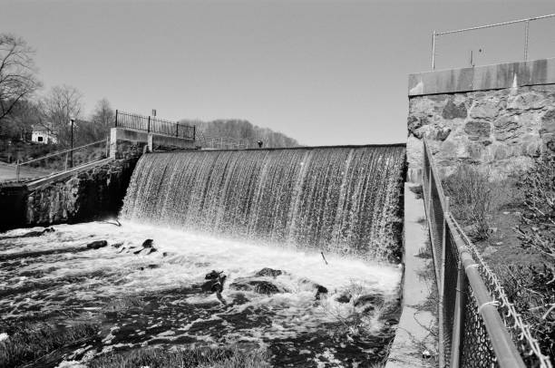 The 4th Privilege Dam at Stone Mill, Dedham MA. #2 stock photo