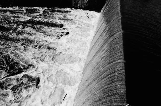 The 4th Privilege Dam at Stone Mill, Dedham MA. #3 stock photo
