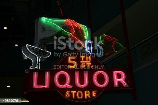 istock The 5 th Liquor Store Neon 458590761