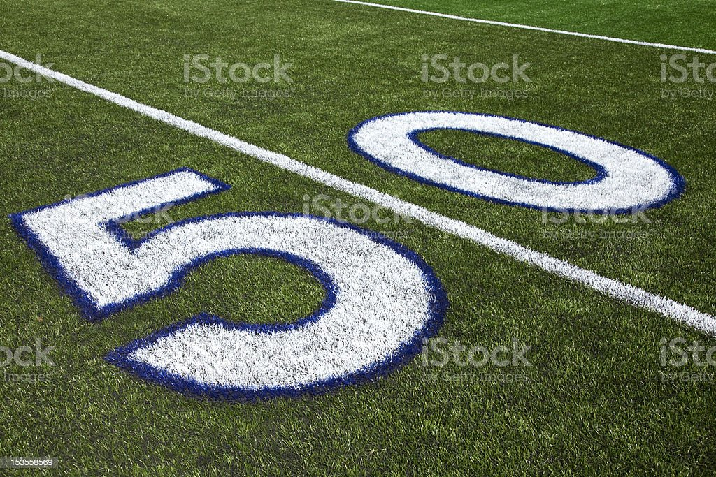 The 50 Yard Line royalty-free stock photo