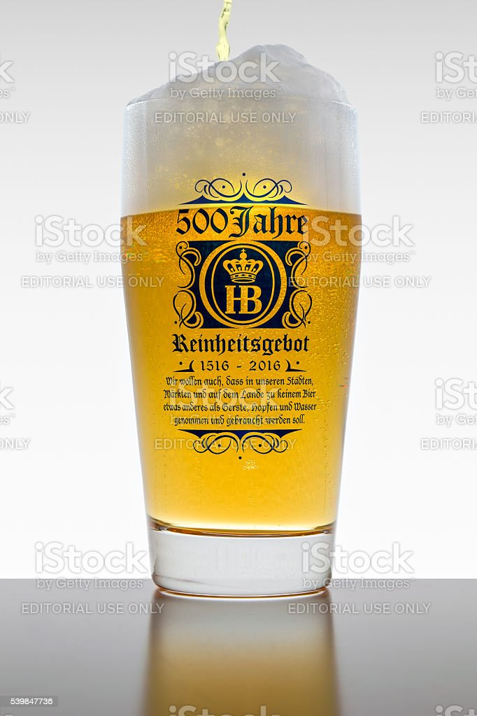 The 500 years of Reinheitsgebot - German Beer Purity Law stock photo